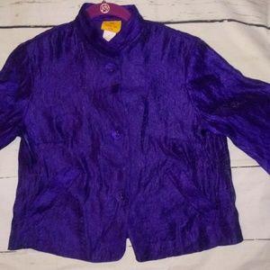 Ruby Rd. Petite Purple Blazer Size 4P